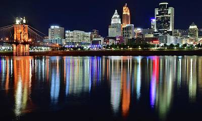 Photograph - Colorful Riverfront In Cinci by Frozen in Time Fine Art Photography