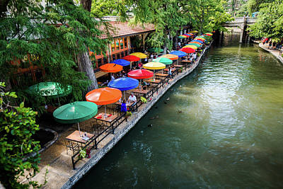 Photograph - Colorful Riverwalk Of San Antonio Texas by Gregory Ballos