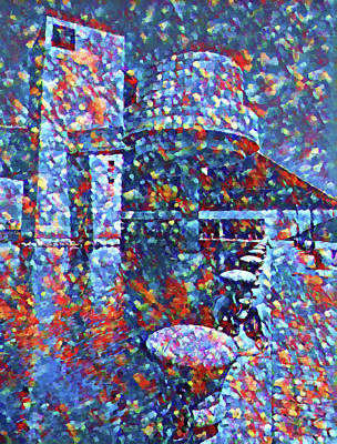 Painting - Colorful Rock And Roll Hall Of Fame Museum by Dan Sproul