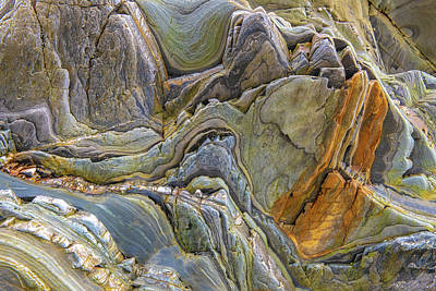 Photograph - Colorful Rock Formation At Gueirua Beach by Judith Barath