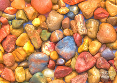 Colorful Rocks Original by Veikko Suikkanen