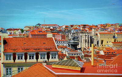 Photograph - Colorful Rooftops Of Lisbon by Sue Melvin
