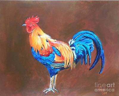 Painting - Colorful Rooster by Cami Lee