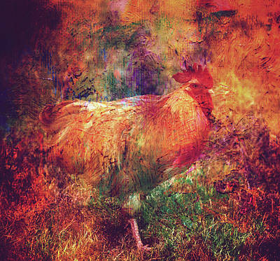 Photograph - Colorful Rooster by Toni Hopper