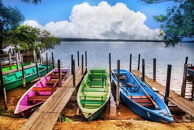 Photograph - Colorful Rowboats At The Lake by Debra and Dave Vanderlaan