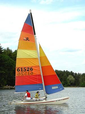 Photograph - Colorful Sailin' by Carolyn Jacob