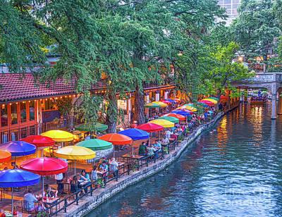 Riverwalk Photograph - Colorful San Antonio Riverwalk by Tod and Cynthia Grubbs