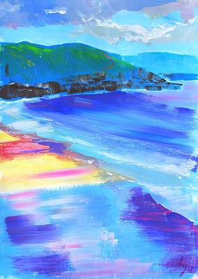 Mixed Media - Colorful Sand At Fistral Beach by Mike Jory
