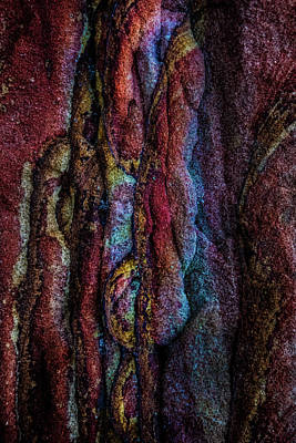 Photograph - Colorful Sandstone Abstract by Michael Arend