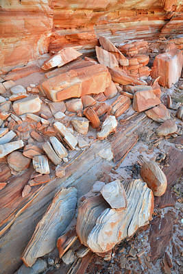 Photograph - Colorful Sandstone Cove In Valley Of Fire by Ray Mathis
