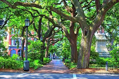 Photograph - Colorful Savannah Square Sidewalk by Carol Groenen