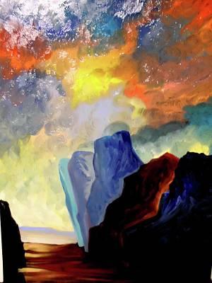 Colorful Scape Art Print by Joe Santana