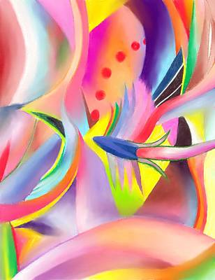 Colorful Abstract Drawing - Colorful Sea by Peter Shor