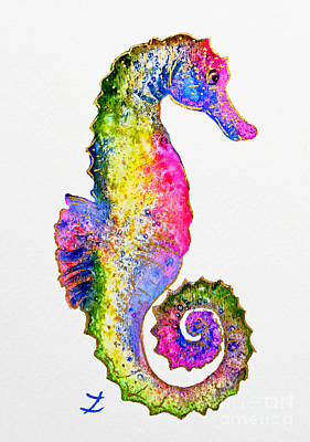 Painting - Colorful Seahorse by Zaira Dzhaubaeva