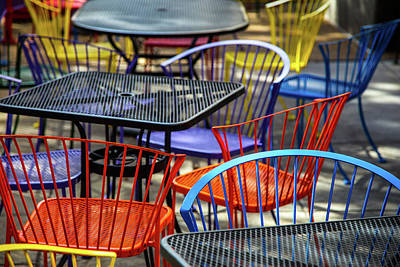 Photograph - Colorful Seating by Karol Livote