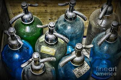 Colorful Seltzer Bottles Print by Paul Ward