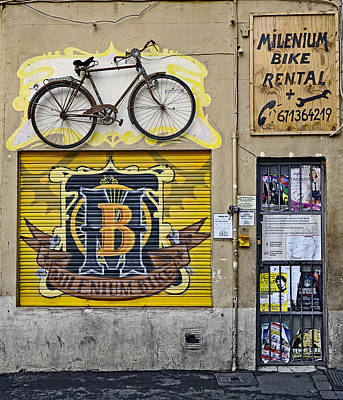 Colorful Signage In Palma Majorca Spain Art Print by Richard Rosenshein