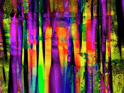 Contemporary Art Painting - Colorful Silk by Contemporary Art