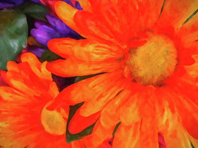 Photograph - Colorful Silk Flowers by SR Green