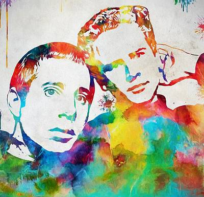Boxer Painting - Colorful Simon And Garfunkel by Dan Sproul