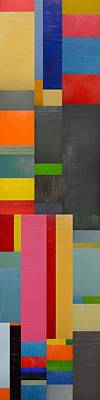 Painting - Colorful Skinny Collage 1.0 by Michelle Calkins