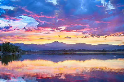 Photograph - Colorful Sky Into The Rocky Mountain Night by James BO Insogna