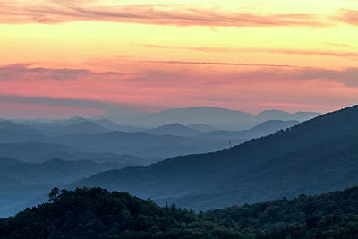 Photograph - Colorful Smoky Mountains Sunset by Teri Virbickis