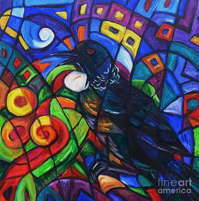 Painting - Colorful Song Of Tui by Dianne  Connolly