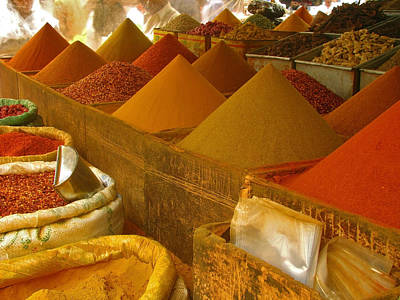 Photograph - Colorful Spices On Sale by Bashir Osman's Photography