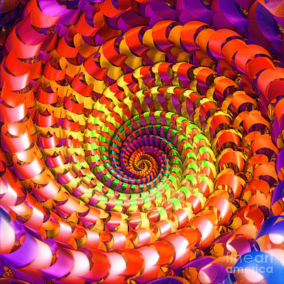 Colorful Spiral Art Print