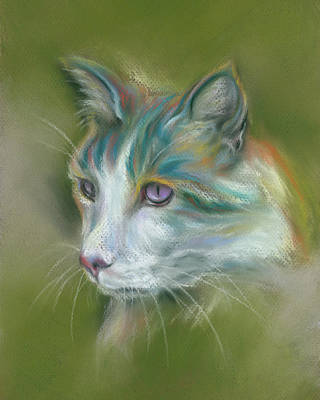 Pastel - Colorful Spirit Tabby Cat by MM Anderson