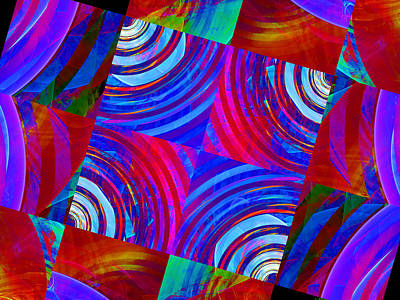 Digital Art - Colorful Squares by Ernst Dittmar