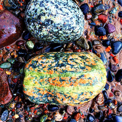 Photograph - Colorful Stones Vii by Cristina Stefan