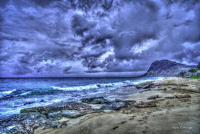 Photograph - Colorful Storm Oahu Thunderstorm Hawaii Collection Art by Reid Callaway