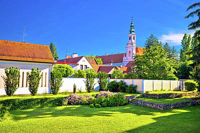 Photograph - Colorful Street And Green Park In Baroque Town Varazdin by Brch Photography