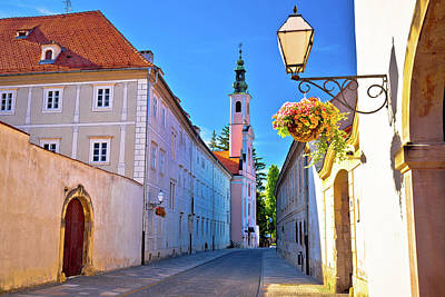 Photograph - Colorful Street Of Baroque Town Varazdin  by Brch Photography