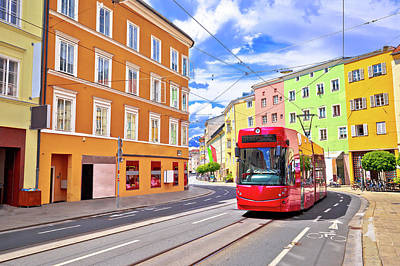 Photograph - Colorful Street Of Innsbruck View by Brch Photography
