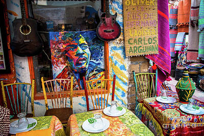 Photograph - Colorful Street Side Cafe Of Marrakech by Rene Triay Photography