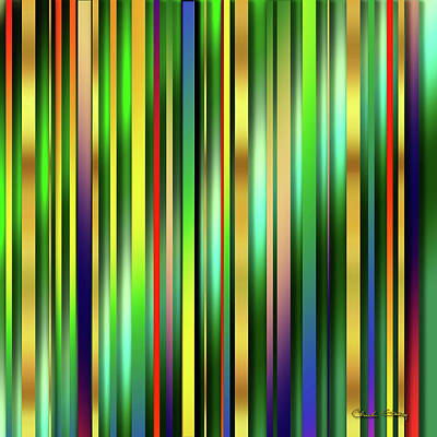 Digital Art - Colorful Stripes 2 by Chuck Staley