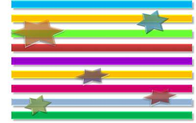 Colorful Stripes And Stars Original by Anil Bajpai