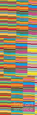 Colorful Stripes Art Print by Ramneek Narang