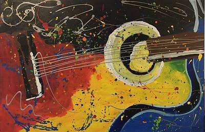 Easterseals Painting - Colorful Strum by Eric G