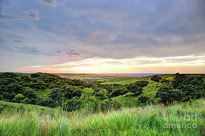 Photograph - Colorful Summer Evening In The Flint Hills by Jean Hutchison