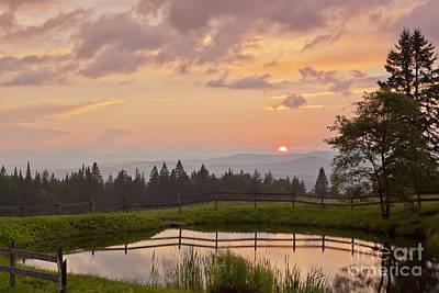 Photograph - Colorful Summer Sunset by Alan L Graham