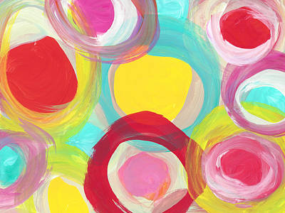Painting - Colorful Sun Circles by Amy Vangsgard