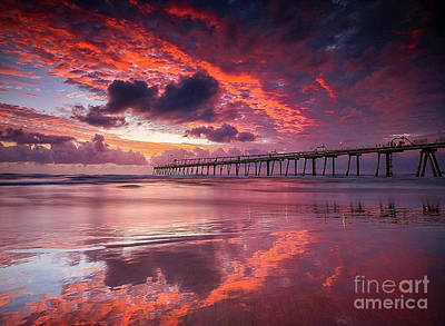 Colorful Sunrise Art Print by Rod Jellison