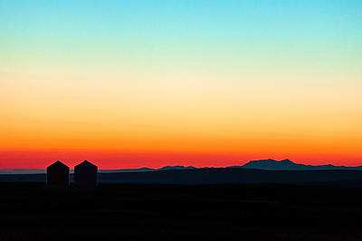 Wheat Silhouette Photograph - Colorful Sunrise by Todd Klassy