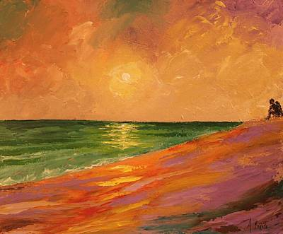 Painting - Colorful Sunset by Angel Reyes