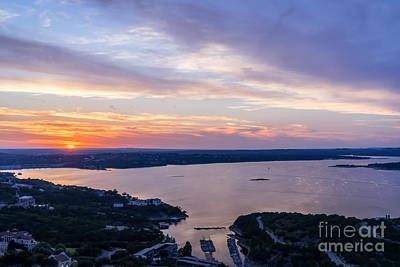 Sunset Photograph - Colorful Sunset At Lake Travis  by Tod and Cynthia Grubbs