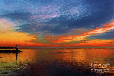 Twilight Photograph - Colorful Sunset In Steveston 1 by Viktor Birkus
